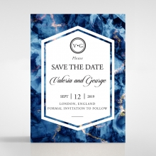 Azure save the date wedding stationery card