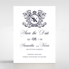 Baroque Romance wedding stationery save the date card item