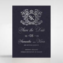 Baroque Romance save the date wedding card