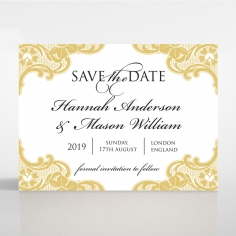 Black Lace Drop wedding stationery save the date card item