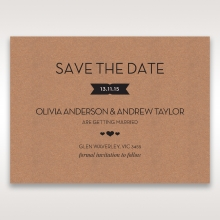 Blissfully Rustic  Laser Cut Wrap wedding save the date card