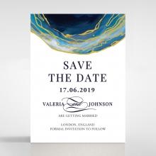 Blue Aurora save the date stationery card design