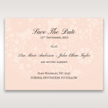 Blush Blooms save the date invitation stationery card