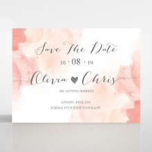 Blushing Rouge save the date invitation stationery card