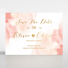 Blushing Rouge with Foil save the date card