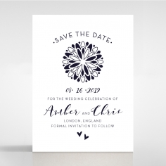 Bohemia save the date invitation card design