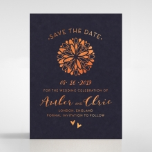 Bohemia save the date stationery card design