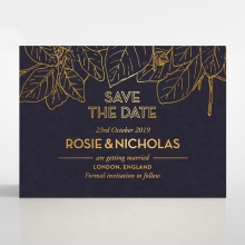Botanical Canopy save the date stationery card