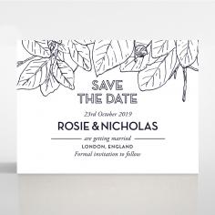 Botanical Canopy save the date wedding stationery card
