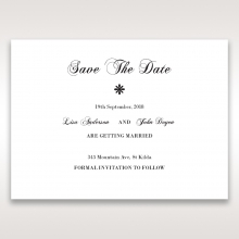 Bouquet of Roses wedding save the date stationery card design