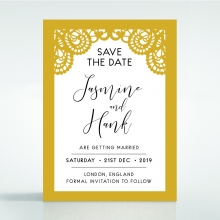 Breathtaking Baroque Foil Laser Cut save the date stationery card design
