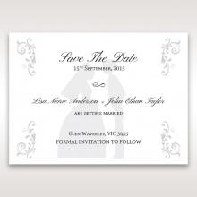 Bridal Romance save the date invitation stationery card design