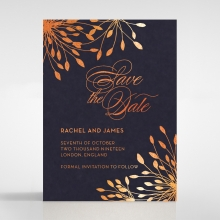 Bursting Bloom save the date invitation card design