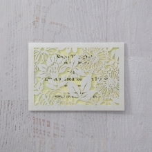 Charming Laser cut Garden save the date card