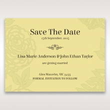 Charming Laser cut Garden wedding stationery save the date card