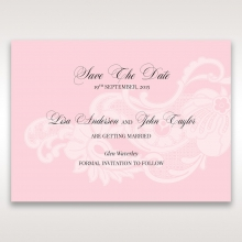 Classic White Laser Cut Floral Pocket save the date wedding card design