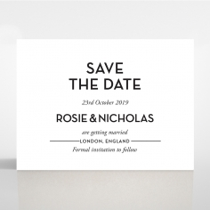Clear Chic Charm Paper wedding save the date card