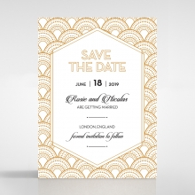 Contemporary Glamour save the date invitation stationery card design