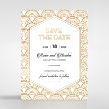 Contemporary Glamour save the date invitation stationery card