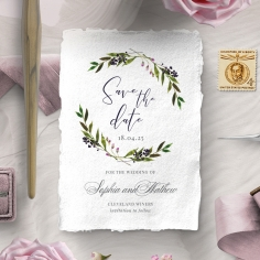 Country Charm wedding save the date stationery card item