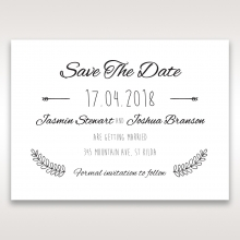 Country Lace Pocket wedding stationery save the date card