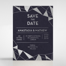 Digital Love save the date wedding stationery card design