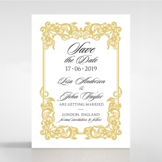 Divine Damask wedding save the date card