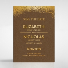 Dusted Glamour save the date invitation card design