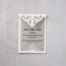 Elegance Encapsulated save the date invitation stationery card design