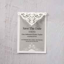 Elegant Crystal Lasercut Pocket save the date invitation stationery card item