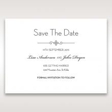 Embossed Date save the date invitation card