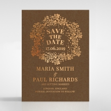 Enchanted Crest save the date invitation stationery card item