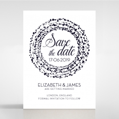 Enchanting Halo save the date wedding stationery card item