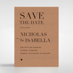 Enchanting Imprint save the date invitation card