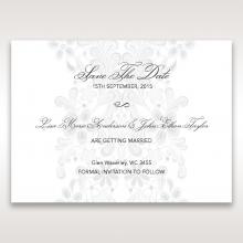 Enchanting Ivory Laser Cut Floral Wrap wedding save the date stationery card item