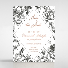 English Rose save the date invitation stationery card design