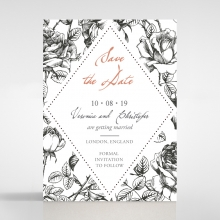 English Rose save the date invitation stationery card