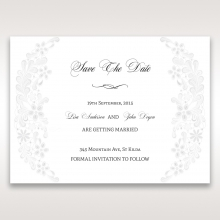 Everlasting Love wedding stationery save the date card