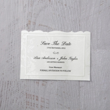 Exquisite Floral Pocket wedding save the date stationery card design