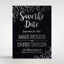 Fire Sparkle save the date wedding card
