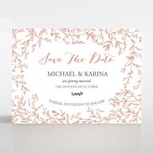 Fleur save the date invitation card design