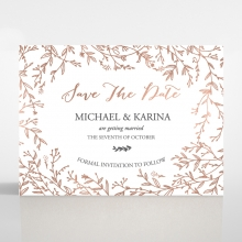Fleur save the date invitation stationery card
