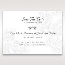 Floral Laser Cut Elegance Black wedding save the date card