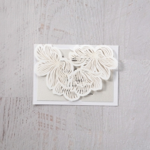 Floral Laser Cut Elegance save the date invitation stationery card item