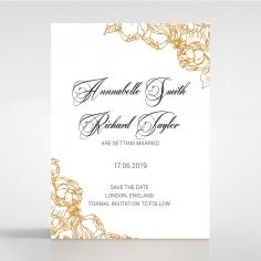 Flourishing Garden Frame wedding save the date stationery card