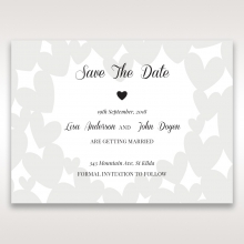 Fluttering Hearts  wedding save the date card design