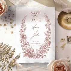 Fragrant Romance save the date wedding stationery card