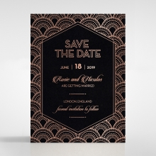 Gatsby Glamour save the date card design