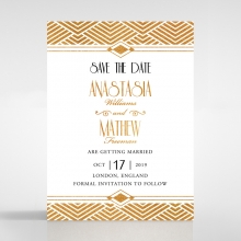 Gilded Glamour save the date wedding stationery card