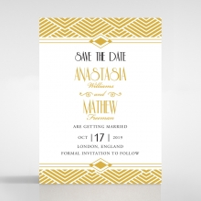 Gilded Glamour save the date stationery card item